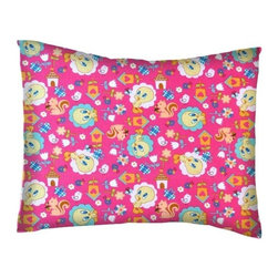 SheetWorld - SheetWorld Twin Pillow Case - Percale Pillow Case - Tweety Bird Hot Pink - Twin pillow case. Made of an all cotton woven fabric. Side Opening. Features the one and only Tweety Bird on a hot pink colored background.