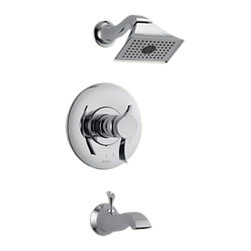Brizo - Brizo T60490-PC RSVP Polished Chrome Tempassure Tub / Shower Trim - The Brizo T60490-PC is a TempAssure thermostatic tub and shower trim from Brizo's RSVP design suite with contemporary and minimalist features, and it comes in a Polished Chrome finish.