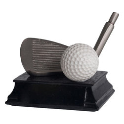BA - 3.5 Inch Ancient Silver and Pewter Golf Club Head with Ball Statue - This gorgeous 3.5 Inch Ancient Silver and Pewter Golf Club Head with Ball Statue has the finest details and highest quality you will find anywhere! 3.5 Inch Ancient Silver and Pewter Golf Club Head with Ball Statue is truly remarkable.
