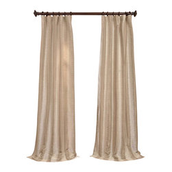 "Exclusive Fabrics & Furnishings, LLC - Xena Jacquard Curtain - 60% Polyester 40% Rayon. 3"" Pole Pocket. Lined. Imported. Dry Clean Only."