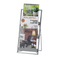 Adesso Editor Magazine Rack - Painted Steel - About AdessoAdesso was established in 1994 based on the belief that there was an under-served niche among consumers who sought high-quality, contemporary home products at moderate prices. Since then, Adesso has not only revolutionized the home industry with its products and service, but has also gained substantial recognition for its well-designed and well-priced lamps and RTA (Ready-To-Assemble) furniture, quickly establishing itself as an industry leader. Its collections represent a variety of home accents and furniture, including lighting, kids lamps, clocks, tables, chairs, coat racks, and screens. With these and all of its other innovative products, Adesso continues to shape the future of home design.