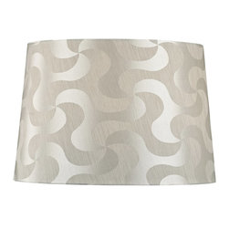 Dolan Designs - Petite Silver & Taupe Patterned Modified - This stylish petite-sized lamp shade is designed to be matched with petite-sized mix-and-match lamp bases by Dolan Designs. Dolan Designs proudly presents the latest in lighting excellence. Each lamp shade in our mix and match program is a statement of style and beauty without sacrificing affordability. By combining this lamp shade with our coordinating lamp bases you can create your own unique look from dozens of possible combinations. We invite you to experience mix and match lighting from Dolan Designs for yourself.