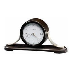 HOWARD MILLER - Howard Miller Callahan Contemporary Wood and Metal Mantel Clock with Quartz, tri - Contemporary wood and metal construction