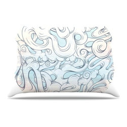 """Kess InHouse - Mat Miller """"Entangled Souls"""" Pillow Case, King (36"""" x 20"""") - This pillowcase, is just as bunny soft as the Kess InHouse duvet. It's made of microfiber velvety fleece. This machine washable fleece pillow case is the perfect accent to any duvet. Be your Bed's Curator."""