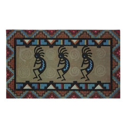 "Mohawk - Kokopelli Doormat - Colorful doormat will leave a stylish, southwest feel to your doorstep. 100% recycled rubber. Measures 18"" x 30"". Shake to clean. Made in the USA."