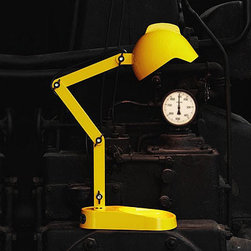 Foscarini Diesel Duii Table Lamp - Duii table lamp is a desk, table, or bedside lamp in glass and polycarbonate, available in two color variants, yellow or grey.