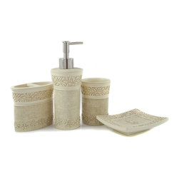 Dream Bath - Dream Bath Classic Beauty Bath Ensemble 4 Piece Bathroom Accessories Set - Dream Bath focuses exclusively on the design and creation of exquisite and practical accessories.