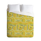 DENY Designs - Heather Dutton Dunes Queen Duvet Cover - With a pattern inspired by golden sands and a super soft woven polyester fabric, this duvet cover is sure to usher you into sublime slumber. It's also got a solid white underside to suit your patterned sheets.