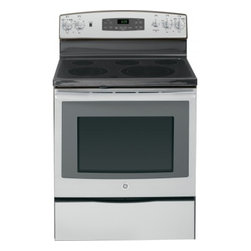 "GE - JB690SFSS 30"" 5.3 cu. ft. Oven Capacity Free-Standing Convection Electric Range - A GE electric range will meet all your cooking needs for years to come from warming a simple pan of soup for one person to handling a large dinner party or holiday meal for the whole family Plus your stove will look great in your kitchen and clean up..."