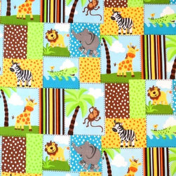 "SheetWorld - SheetWorld Fitted Pack N Play (Graco Square Playard) Sheet - Safari Animal Patch - This 100% cotton ""woven"" square playard sheet features the cutest safari animal patch print. Our sheets are made of the highest quality fabric that's measured at a 280 tc. That means these sheets are soft and durable. Sheets are made with deep pockets and are elasticized around the entire edge which prevents it from slipping off the mattress, thereby keeping your baby safe. These sheets are so durable that they will last all through your baby's growing years. We're called sheetworld because we produce the highest grade sheets on the market today. Size: 36 x 36. Not a Graco product. Sheet is sized to fit the Graco square playard. Graco is a registered trademark of Graco."