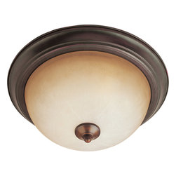 Maxim Lighting - Maxim Lighting 5849WSOI Oil Rubbed Bronze Flush Mount - 2 Bulbs, Bulb Type: 60 Watt Incandescent