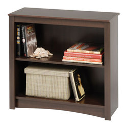 Prepac - Prepac Sonoma Espresso 29 Inch 2-Shelf Bookcase - Add a functional accent to your study, office or living room with the 2-shelf bookcase. Two shelves offer room to store books, baskets and other household items you need to organize. Create a versatile library-style area for your home by grouping this bookcase with others. It's an ideal storage piece that suits any lifestyle.