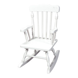 Gift Mark - Gift Mark Home Kids Children Resting Spindle Rocking Chair White - The Gift mark Hand Crafted Colonial Rocking Chair is Designed for Beauty and Durability. Each Spindle is Hand carved, with Great Detail. Each Spindle Rocking Chair is Crafted from Solid Wood. This Rocking Chair is built to Last, and will be part of your Family for Generations. Easy to Assemble. Includes All Tools For Assembly.