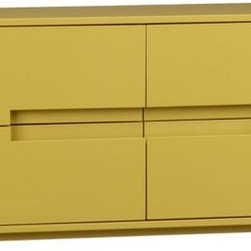 Latitude Grellow Low Dresser - This high-gloss dresser would be great as a sideboard or even a console table behind a sofa.