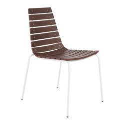 Eurostyle - Eurostyle Siari Side Chair in Walnut & White [Set of 2] - Side Chair in Walnut & White belongs to Siari Collection by Eurostyle Real wood and a beautifully tapered back give Siari a real warmth and a promise of comfort. The steel frame is completely sturdy and delicate at the same time. Think of this as the lighter side of seating. Side Chair (2)