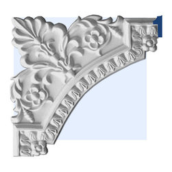 "Inviting Home - Metairie Decorative Corner - Metairie decorative molding corner 11-3/4""H x 11-3/4""W This panel molding corner is made from high density polyurethane. The front surface of this panel molding corner has extra durable and smooth and is pre-primed with water-based white paint. POlyurethane is lightweight durable and easy to install using common woodworking tools. Metal dies were used for consistent quality and perfect part to part match for hassle free installation. This corner has sharp deep and highly defined design. This corner can be finished with any quality paints."