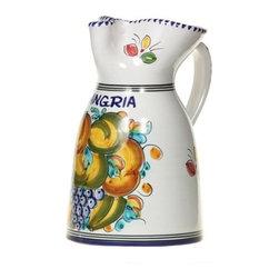 "Spanish Majolica Fruit 10"" Sangria Pitcher - Spanish Majolica Fruit 10"" Sangria Pitcher"