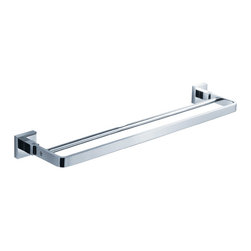 "Fresca - Fresca Glorioso Double Bathroom Towel Bar 20"" - All our bathroom accessories are imported and are selected for their modern, cutting edge designs. All accessories are made with brass with a quadruple chrome finish. All our accessories have been chosen to complement our other line of products including our vanities, steam showers, whirlpools, and toilets."