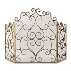 Uttermost - Uttermost Kora Metal Fireplace Screen - 20467 - Uttermost's fireplace accessories combine premium quality materials with unique high-style design.