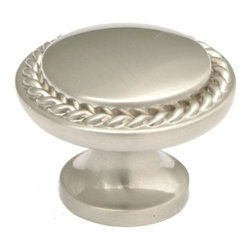 Q.M.I. - Roped Knob (Set of 10) - Includes mounting screws. Decorative. Easy to install. Limited lifetime warranty. Made from solid stainless steel. 1.25 in. Dia. x 1 in. HAdd the finishing touches to your new vanity or cabinets or instantly update the look of your room with this hardware. Our cabinet knobs beautifully compliment any homes decor.