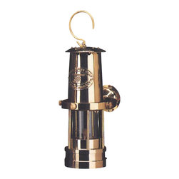 "10"" Gold Gimbaled Miner's Lantern - The gold gimbaled miners lantern is available in size 10""H. It is made of polished gold plate, it has a gimbaled wall mount  is available in oil only. It will add a definite nautical touch to wherever it is placed and is a must have for those who appreciate high quality nautical decor. It makes a great gift, impressive decoration and will be admired by all those who love the sea."