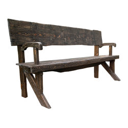 Bezaleel Orthodox Workshop - Rustic Style Bench Natural Wood Finish - Rustic style bench.  This is the one of a kind bench made from new wood as rustic style. Natural wood finish.