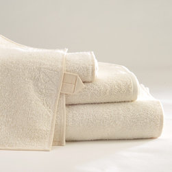 Vilnius Linen Terry Towels - Thoroughly contemporary in look and feel, Vilnius is a 100% linen terry towel. Linen terry is stiffer than cotton making it the perfect invigorating exfoliant. All sizes have linen loops for hanging.