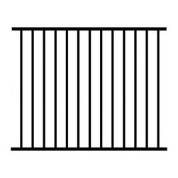 Jerith - Jerith 48 x 72 in. Black Unassembled 2-Rail Aluminum Fence Section - LO48BSSN - Shop for Fencing and Fencing Materials from Hayneedle.com! For a handsome 2-rail fence that's built strong the Jerith 48 x 72 in. Black Unassembled 2-Rail Aluminum Fence Section is ideal. This fence section is ideal for fencing in yards with or without swimming pool. It's made of durable aluminum alloy with a powder-coated black finish built to withstand the elements. Use this fence with line posts corner posts or gate posts (not included). Remember to always consult your local building department for pool codes prior to installing a fence. About Jerith:Since 1961 Jerith has been producing top-notch ornamental fences and revolutionizing the standard of fencing from its family owned location in Philadelphia PA. Known for their high-quality products and outstanding service Jerith is constantly improving their techniques and holds numerous patents within the fencing market all with the intent of bringing you the best possible product. Jerith understands that when you buy a fence for your home you expect it to last as long as your home does and that s what they give you. Their proud tradition of US-made outstanding fences and customer service is held to the highest standard in the industry.