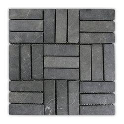 CNK Tile - Grey Weave Stone Mosaic Tile - Usage: