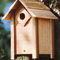 Schrodt - Nesting Box Small - The small birdhouse may attract chickadees, wrens and nuthatches; discourages sparrows.