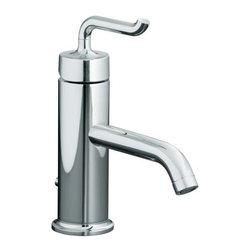 KOHLER - KOHLER K-14402-4-CP Purist Single Handle Lavatory Faucet - KOHLER K-14402-4-CP Purist Single Handle Lavatory Faucet with Smile Design Handle in Polished Chrome