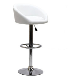 Modway - Modway EEI-583 Marshmallow Bar Stool in White - The Marshmallow Bar Stool is an innovative work of modern cylindricity. Move your seating experience forward with inner movements that return delightful results. Positioned on a height adjustable steel base, Marshmallow is ideal for modern bars and home parlor areas ready for ascendancy.