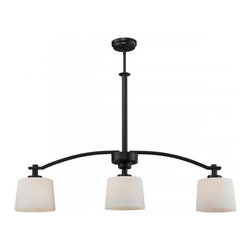 Z-Lite - Z-Lite 220-3B Arlington 3 Light Island Light in Oil Rubbed Bronze - This 3 light Island Light from the Arlington collection by Z-Lite will enhance your home with a perfect mix of form and function. The features include a Oil Rubbed Bronze finish applied by experts. This item qualifies for free shipping!