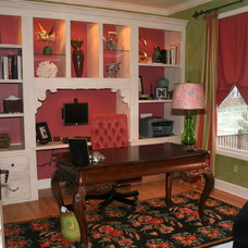 Traditional Home Office by Carolyn Shultz Fine Art
