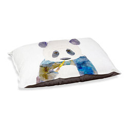 """DiaNoche Designs - Dog Pet Bed Fleece - Panda - DiaNoche Designs works with artists from around the world to bring unique, designer products to decorate all aspects of your home.  Our artistic Pet Beds will be the talk of every guest to visit your home!  BARK! BARK! BARK!  MEOW...  Meow...  Reallly means, """"Hey everybody!  Look at my cool bed!  Our Pet Beds are topped with a snuggly fuzzy coral fleece and a durable indoor our underside material.  Machine Wash upon arrival for maximum softness.  Made in USA."""