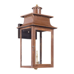 ELK - Elk Lighting Artistic 7905-WP Outdoor Gas Wall Lantern Maryville - Outdoor Gas Wall Lantern Maryville Collection In Solid Brass Withan Aged Copper finish.