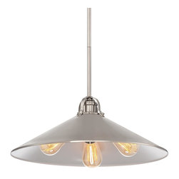 Minka Lavery - Minka Lavery 2251-84 Brushed Nickel 3 Light Pendant - Metal Shade