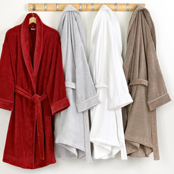 Hotel Collection Robe, Velour Luxury Bathrobe - Bring the luxury of the spa to your home with this ultra-soft bathrobe from Hotel Collection, featuring incredible Turkish cotton texture for over-the-top comfort. In four sophisticated hues. Only at Macy's
