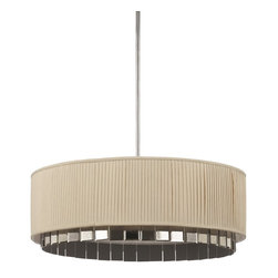 AF Lighting - AF Lighting Garbo Transitional Pendant Light X-H4-0328 - AF Lighting Garbo Transitional Pendant Light shows of glamorous with its Cream Poly Silk shade and Antique Mirrors that hang and shimmer when the lighting fixture is turned on. The diffuser on the bottom comes with 3 adjustable poles 6, 12, 18 in. A perfect addition to an Art Decor decorated home.