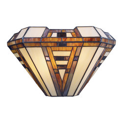 Elk Lighting - American Art 2-Light Sconce in Classic Bronze - This collection marries mission styling with art deco hardware. The classic bronze (cb) finish underscores earthy hues of honey, taupe, and olive.