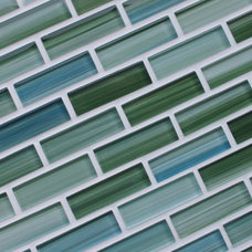 contemporary tile Cove Finishings Hand Painted Glass Mosaic Subway Tiles
