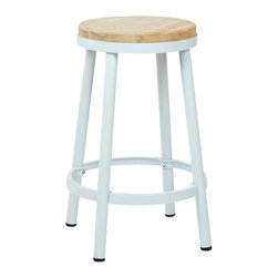 "Office Star - Office Star Bristow Metal Backless Barstool in White-26"" Height Barstool - Office Star - Bar Stools - BRW322611 - Need a little something to complete your dining style/look? This simple yet stylish barstool will be great to add to your dining room or kitchen. Ready to assemble when received.OSP Designs Bristow Metal Backless Barstool (White Finish Frame)."