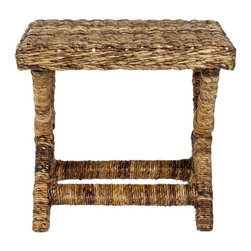 Safavieh - Safavieh Manor Wicker and Wooden Bench in Natural - Safavieh - Living Room Benches - FOX6529A - The Manor x- bench design brings a piece of the resorts to any room that has a  beautiful woven natural wicker a sturdy wood frame and a chic design brings a fresh look to any room in your house.