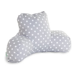 Outdoor Gray Ikat Dot Reading Pillow