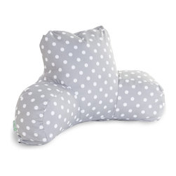 Majestic Home - Outdoor Gray Ikat Dot Reading Pillow - If you've ever had one of these backrest pillows, you know there's nothing quite like them for sitting up comfortably in bed with your book or your breakfast. This one is not only particularly cute, with its colorful ikat dot print, it's also outdoor treated, so you can actually use it out on the lawn or by the pool. And if you spill your coffee or cocktail, don't worry: The cover is removable for easy cleaning.