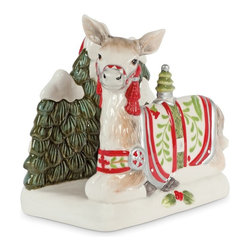 Fitz and Floyd - Fitz and Floyd Winter White Holiday Napkin Holder - 29-711 - Shop for Napkin Holders and Rings from Hayneedle.com! About Fitz and FloydFitz and Floyd is recognized worldwide as a leader amongst the style- and quality-conscious. For 50 years their unique designs have made them the leader in the purveyor of hand-painted ceramic dinnerware tableware accessories giftware and collectibles. All Fitz and Floyd pieces are easy to spot. Each piece is distinctively hand-crafted by artisans from the drawing board to the sculpting wheel and kiln.The company's Dallas-based studios are renowned for producing over 500 unique designs per year. Creations range from presidential dinnerware for the White House or a tea service for Her Majesty Queen Elizabeth II to the perfect centerpiece for your table and each design is lovingly crafted in the highest quality. Meticulous craftsmanship and exquisite detail make every Fitz and Floyd piece a treasured heirloom-quality gift.