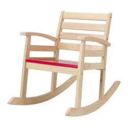 Tina Christensen - ROFYLLD Childrens rocking-chair - Childrens rocking-chair, red, rubberwood