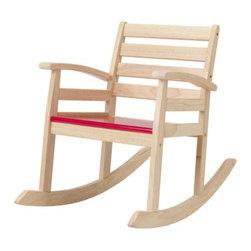 Tina Christensen - ROFYLLD Childrens rocking-chair - Childrens rocking-chair, red, rubberwood