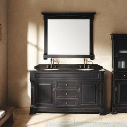 "60"" Peruga Double Sink Vanity - Antique Black -"
