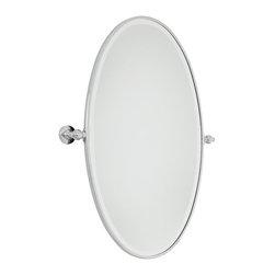 "Minka Lavery - Minka Lavery 1432-77 Chrome Pivoting Bathroom Mirror Traditional / - Minka Lavery 1432 Traditional / Classic Oval Mirror  Oval Mirror Dimensions: 36""H x 21.5""W x 3.25"" Extension"